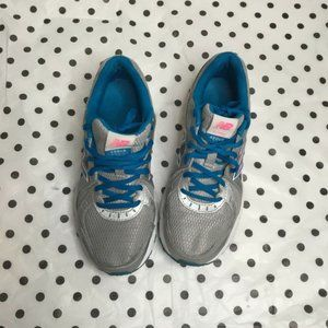 New Balance Womens Gray Blue Running Athletic